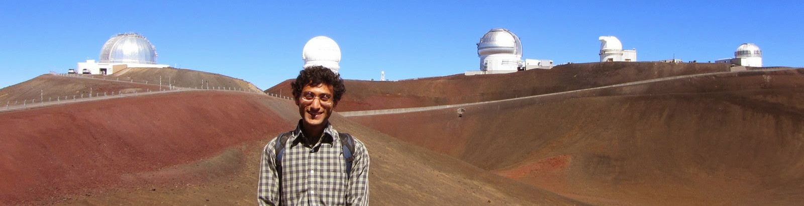 Kunal at the Mauna Kea summit
